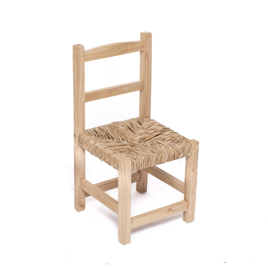 Silla madera asiento mimbre mon deco shop for Sillas de bar madera