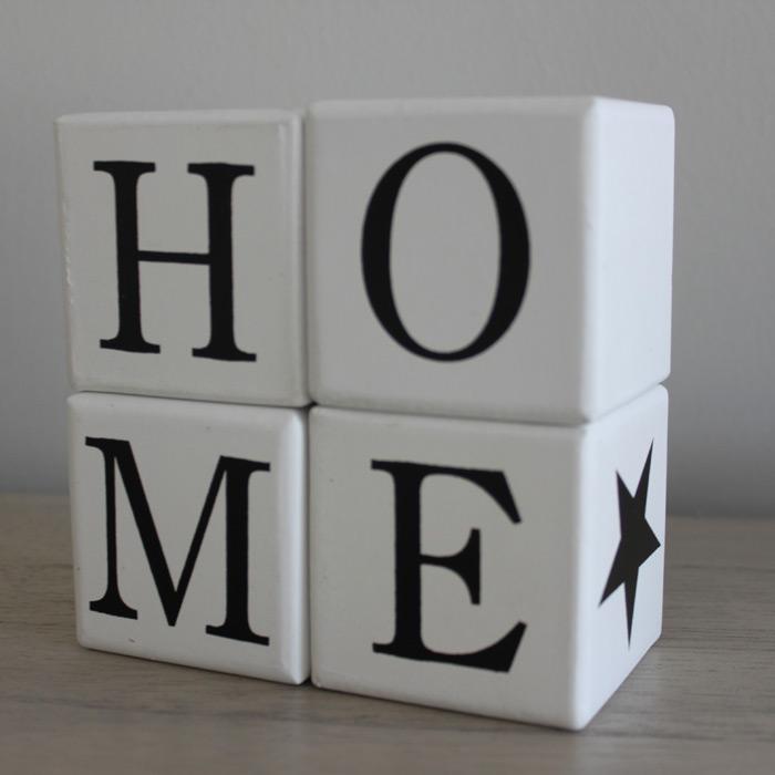 Letras decorativas Home en blanco Mon Deco Shop