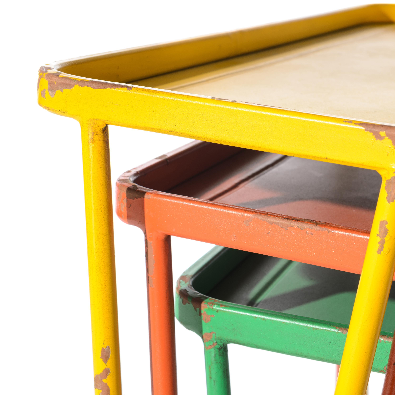 Mesa met lica verde mon deco shop - Mesa auxiliar metalica ...