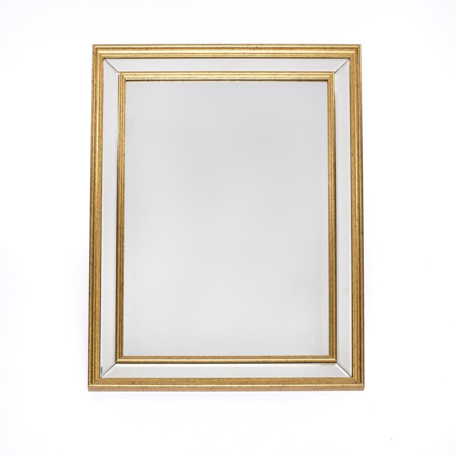 Espejo Dorado Doble Marco