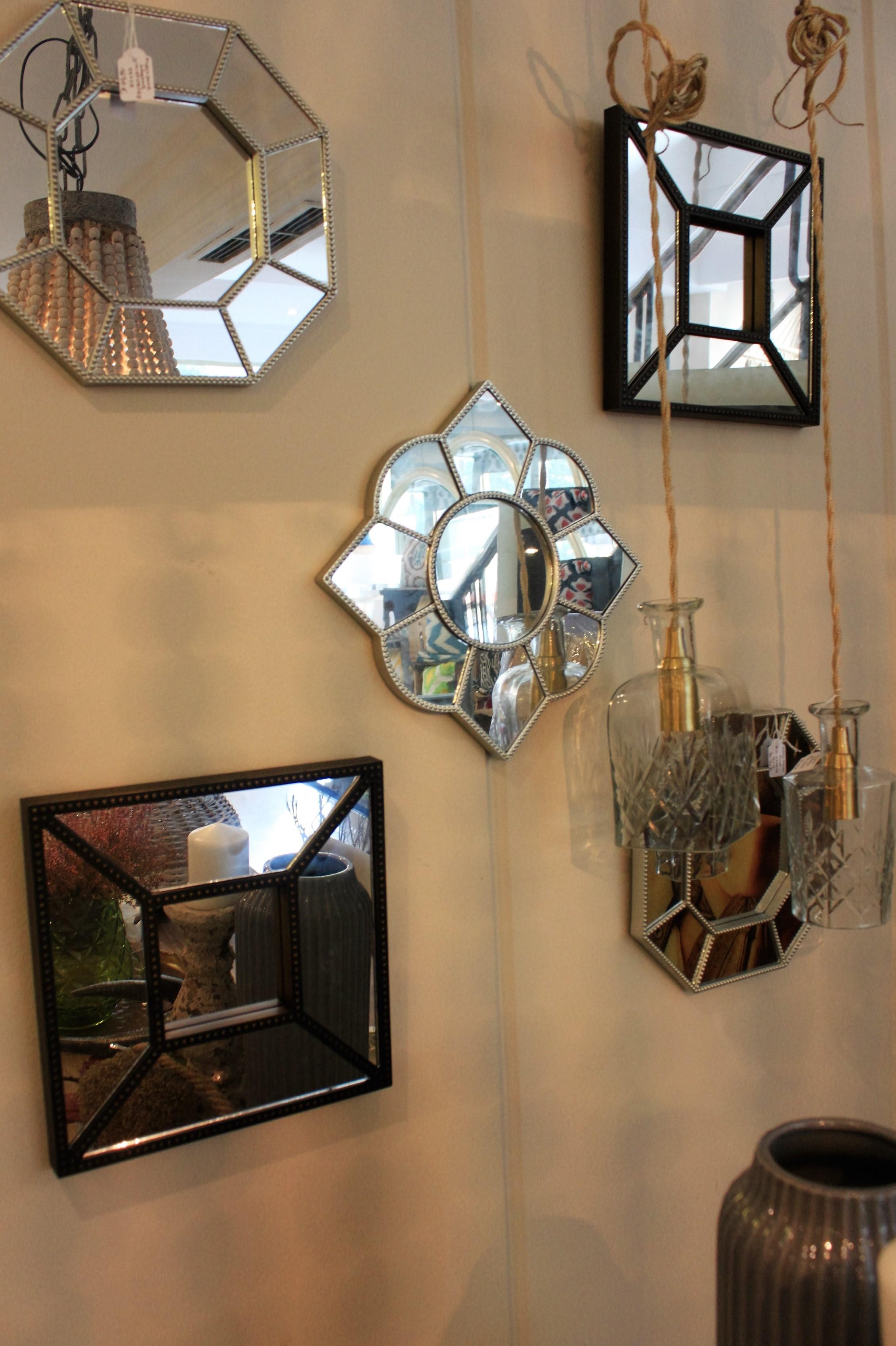 Espejo cuadrado peque o bronce oscuro for Espejos cuadrados pequenos