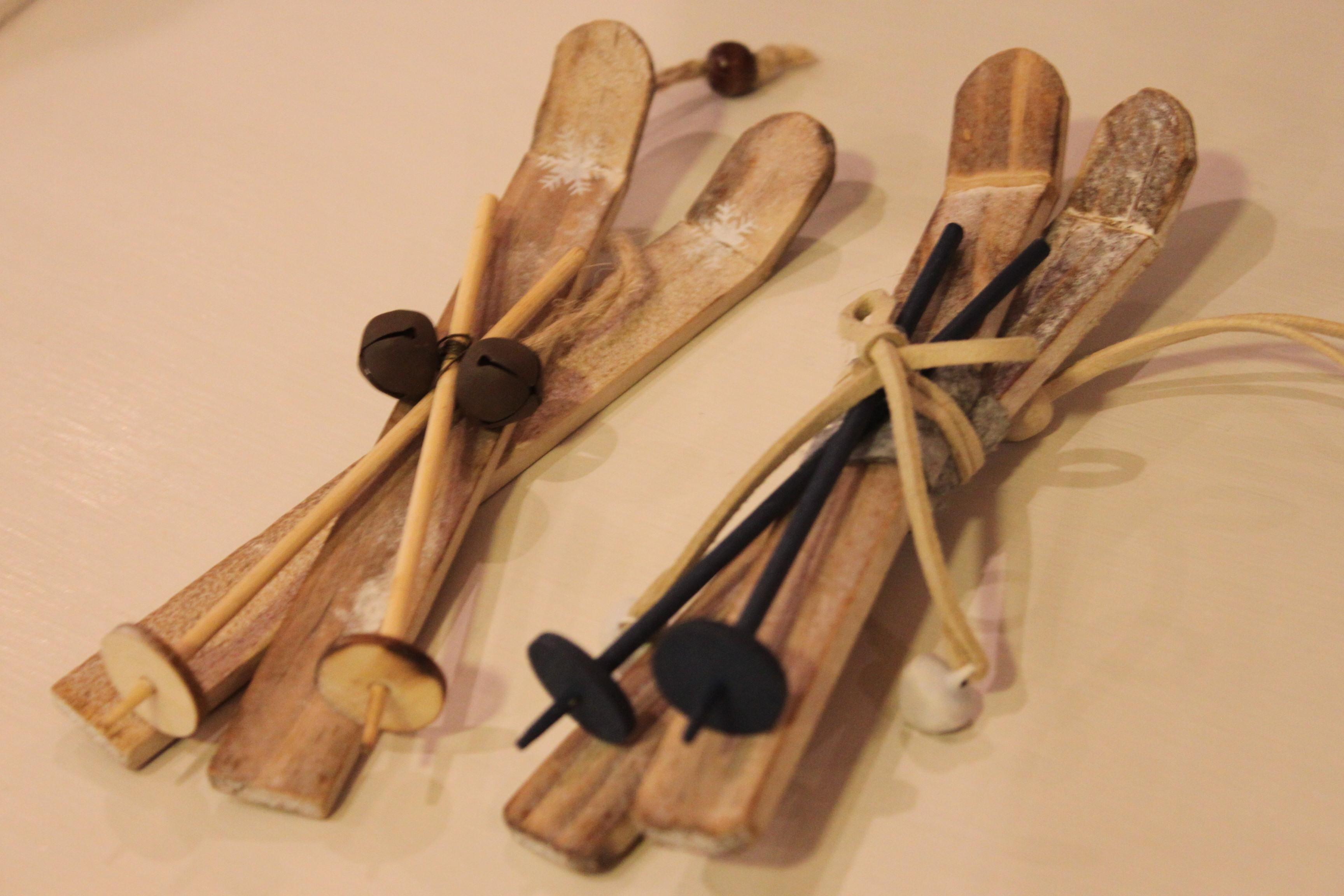 Esqus de madera adorno navideo