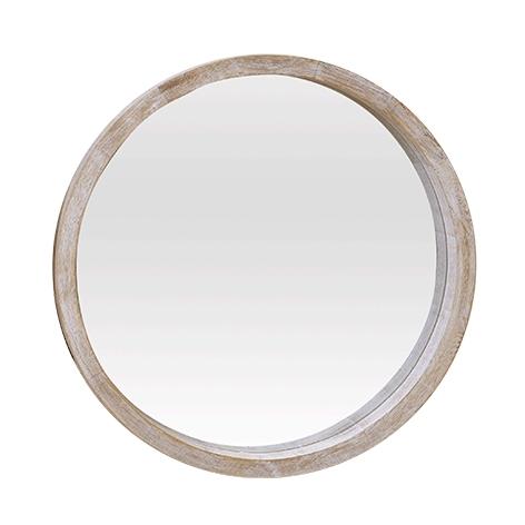 espejo redondo madera s On marcos de madera para espejos redondos