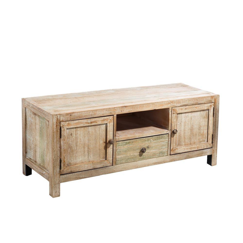 mueble de tv en madera de abeto