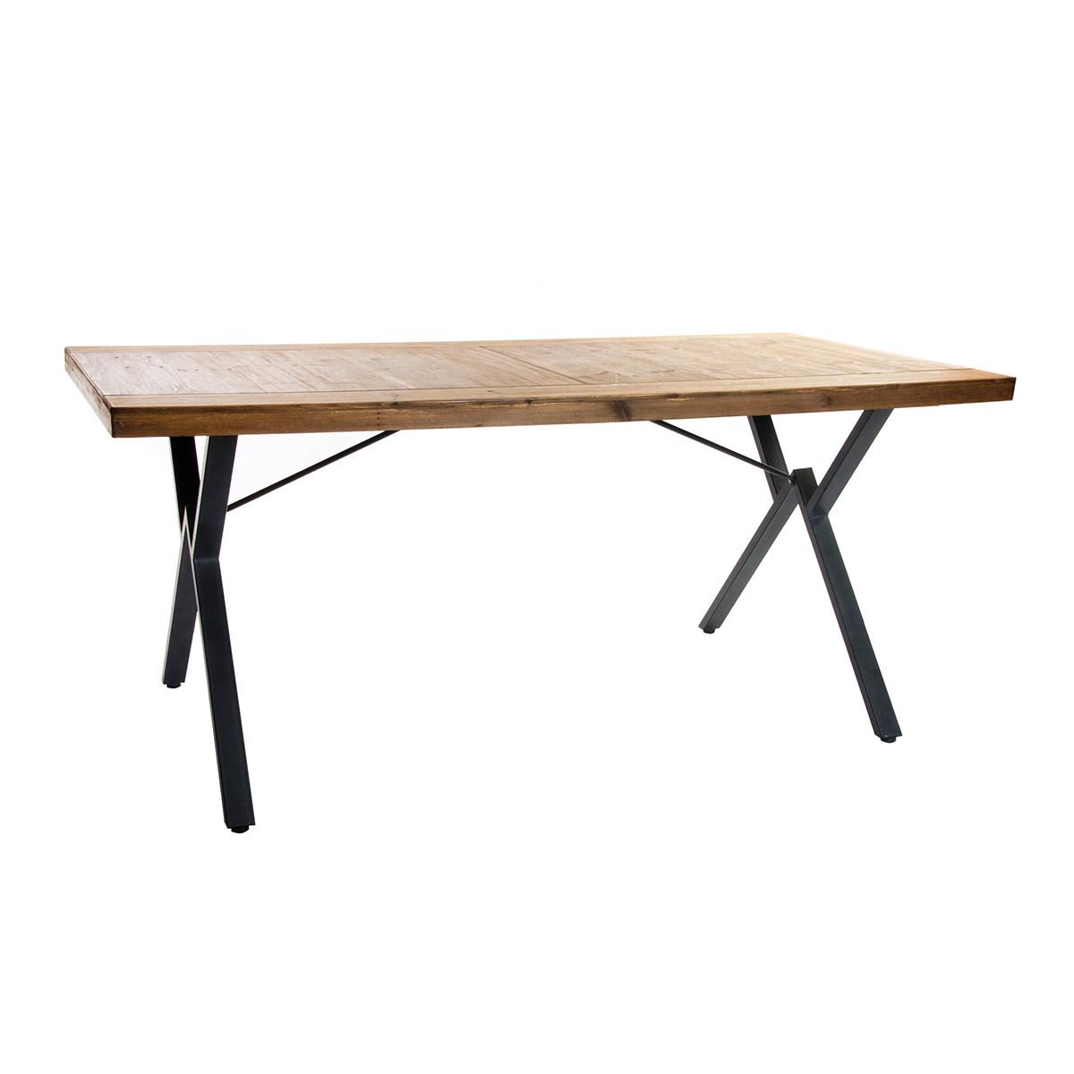 Mesa comedor madera/metal industrial
