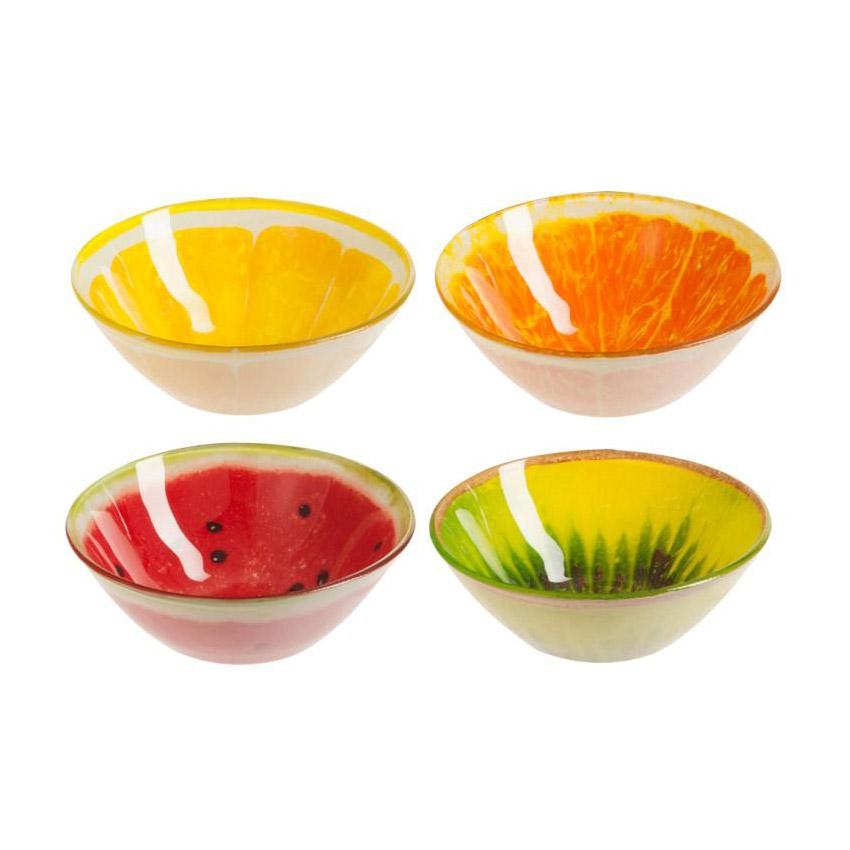 Bol de frutas de cristal